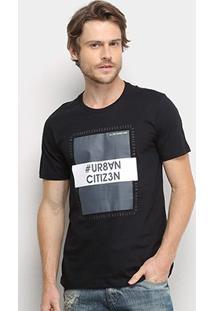 Camiseta All Free Urban Citizen Masculina - Masculino-Preto