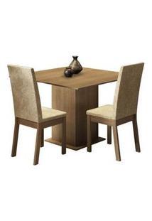 Conjunto Sala De Jantar Madesa Nati Mesa Tampo De Madeira Com 2 Cadeiras Rustic/Imperial Rustic