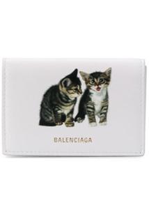 Balenciaga Carteira Kitten Ville Mini - Branco