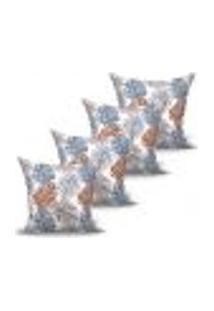 Conjunto De Capas Para Almofada Com 4 Peças Realce Cinza 60X60 Cm