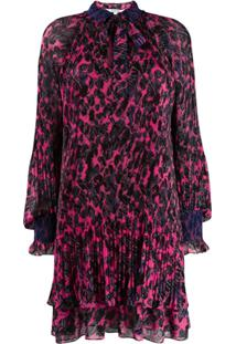Derek Lam 10 Crosby Pleated Floral Print Dress - Rosa