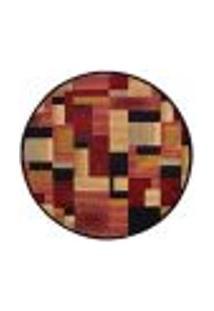 Tapete Redondo Veludo Marbella Illusione Artistic Preto 200X200 Cm