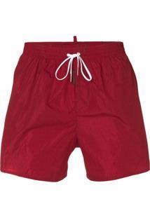 47a825901f37 ... Dsquared2 Logo Printed Swim Shorts - Vermelho