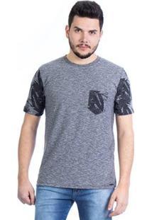 Camiseta Malhas Carlan Estampada Beach Masculina - Masculino-Mescla