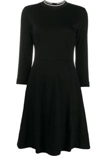 Calvin Klein Blusa Decote Careca De Tricô - Preto
