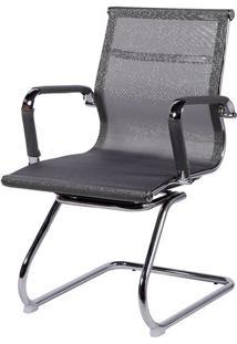 Cadeira Office Eames Em Tela- Cinza- 89X54,5X46,5Cm