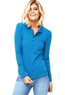 70aa02c518 ... Camisa Polo Manga Longa Malwee Confort Azul