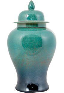 Vaso Decorativo De Porcelana Taipé - Linha Blue Tiffany