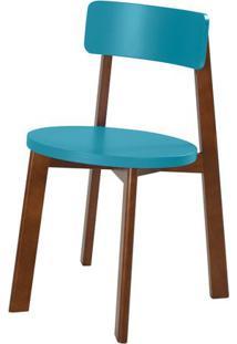 Cadeira Lina Cor Cacau Com Azul - 31529 - Sun House