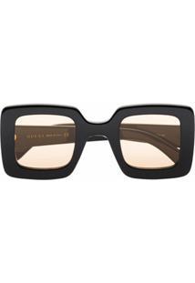 Gucci Eyewear Óculos De Sol Quadrado Preto