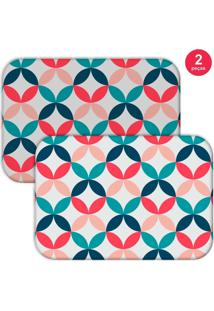 Jogo Americano Love Decor Geomã©Trico Color Colorido - Branco - Dafiti