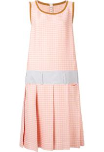 Marni Vestido Xadrez - Rosa
