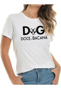 Camiseta Doce E Bacana Buddies Feminina - Feminino-Branco