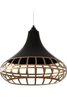 Luminária Pendente Combine Preta E Dourada Spirit Bivolt 1440