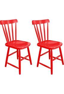 Conjunto Com 2 Cadeiras Espanha Vermelho