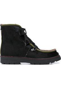 Penelope Chilvers Ankle Boot Incredible Com Acabamento De Corda - Preto