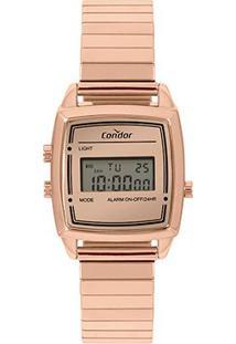 Relógio Condor Digital Cojh512Ag/4J Feminino - Feminino-Rosê