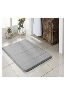 Tapete De Banheiro Super Soft 60X40 Cinza Camesa