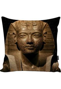 Capa De Almofada Egyptian- Bege Escuro & Preta- 45X4Stm Home