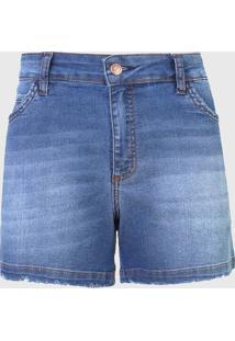 Bermuda Jeans Dimy Reta Rihanna Azul