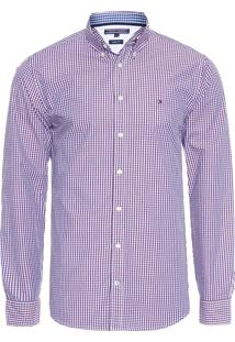 Camisa Masculina Small Multi Gingham - Roxo