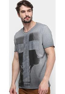 Camiseta Derek Ho Tinturada Lady Cross Masculina - Masculino-Cinza