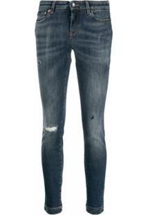 Dolce & Gabbana Calça Jeans Skinny Com Efeito Destroyed - Azul