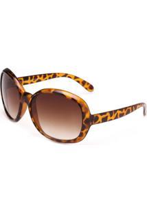 Óculos De Sol Ray Flector 68 Caramelo-Marrom