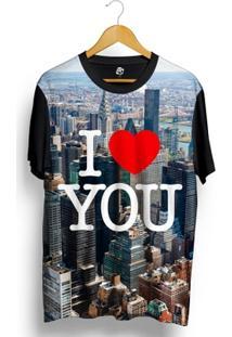Camiseta Bsc I Love Nyc Full Print - Masculino