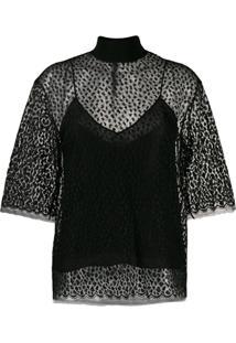 Givenchy Blusa Animal Print - Preto
