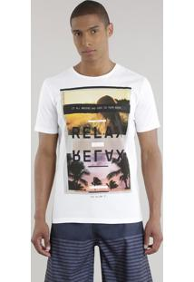 """Camiseta """"Relax"""" Branca"""