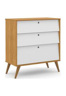 Gaveteiro Gold Freijó/Branco Soft/Eco Wood Matic Móveis