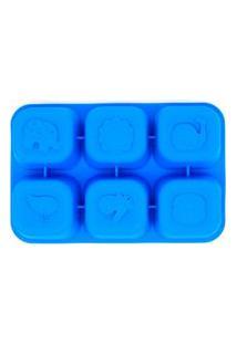Forma Para Congelar Alimento Porquinho Azul