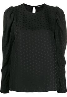 P.A.R.O.S.H. Blusa Com Estampa De Estrela - Preto