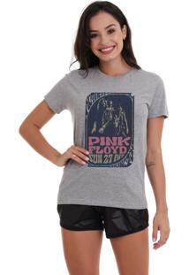 Camiseta Basica Joss Pink Floyd Mothers Cinza Mescla Dtg