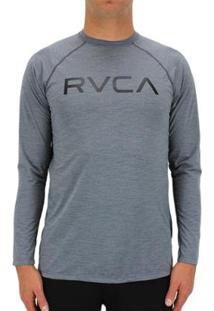 Camiseta Rvca Lycra M/L Micro Mesh Camo - Masculino