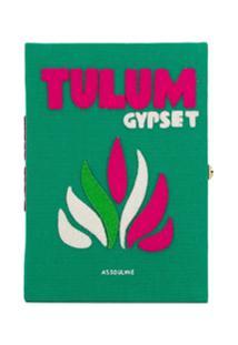 Olympia Le-Tan Clutch Tulum Book Com Bordado - Verde