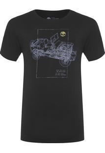 Camiseta Masculina Jeep Trail - Preto
