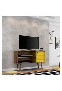 Rack Móveis Bechara Jade Para Tv Até 42 Pol 1 Porta Rústico/Amarelo