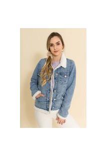 Jaqueta Jeans Forrada Simone