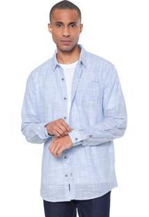 Camisa Calvin Klein Jeans Reta Azul