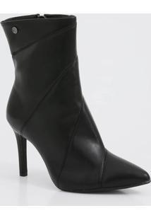Bota Feminina Ankle Boot Salto Alto Vizzano