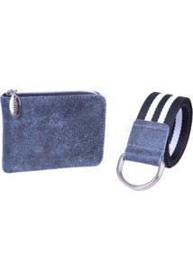Carteira Com Cinto Artlux A459 Azul