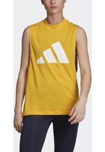 Regata Adidas Athletics Pack Graphic Muscle Feminino - Feminino-Amarelo