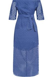 Vestido Midi Laise - Azul
