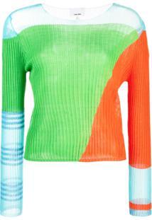I-Am-Chen Blusa Com Recortes - Verde