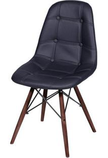 Cadeira Eames Botonãª- Preta & Bege Escuro- 83X44X39Cor Design