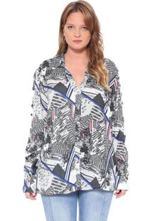 Camisa Manga Longa Energia Fashion Preto