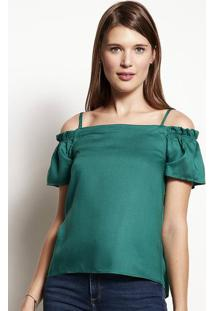 Blusa Feminina Em Tecido De Viscose Com Modelagem Ombro A Ombro
