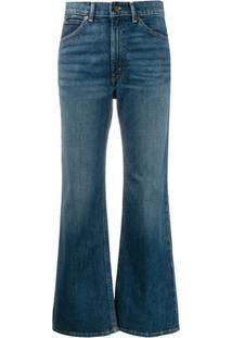 Polo Ralph Lauren Cropped Flared Denim Jeans - Azul